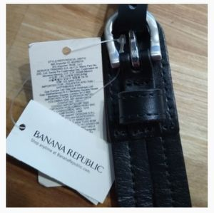 NWT Banana Republic black recycled leather